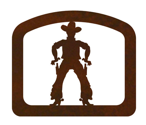 Cowboy Metal Napkin Holder
