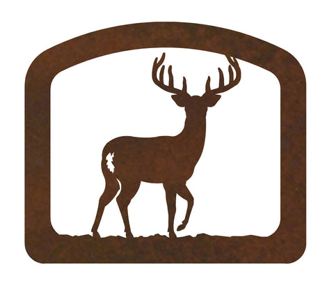 White Tail Deer Metal Napkin Holder