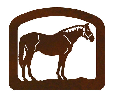 Bay Horse Metal Napkin Holder