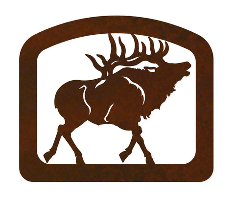 Bull Elk Metal Napkin Holder