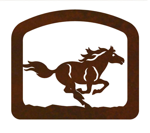 Wild Running Horse Metal Napkin Holder