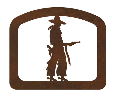 Pistol Cowboy Metal Napkin Holder