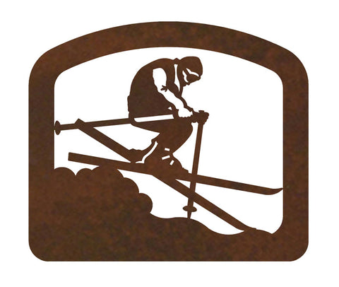 Skier Metal Napkin Holder