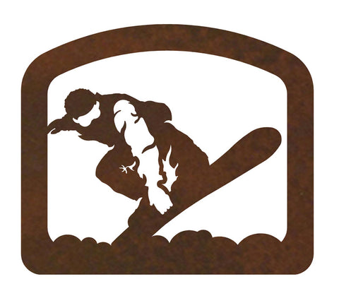 Snowboarder Metal Napkin Holder
