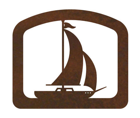 Sail Boat Metal Napkin Holder