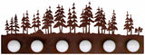 Pine Forest 4 or 6 Bathroom Vanity Light