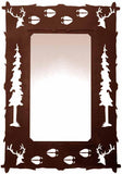 "36"" Elk Design Vertical Metal Wall Mirror"