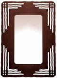 "36"" Mission Design Metal Wall Mirror"