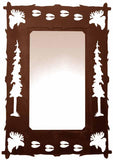 "36"" Moose Design Vertical Metal Wall Mirror"
