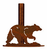 Black Bear Metal Paper Towel Holder
