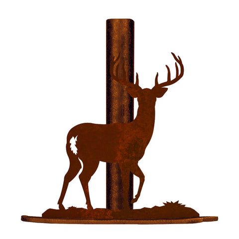 White Tail Deer Metal Paper Towel Holder