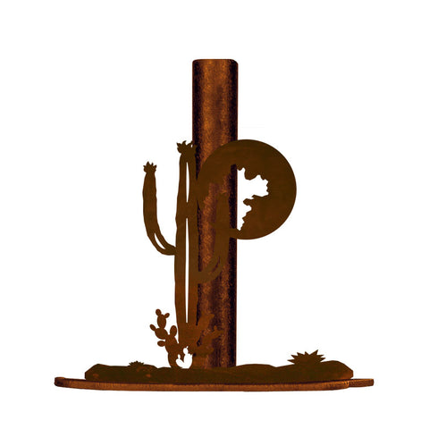 Desert Cactus Metal Paper Towel Holder