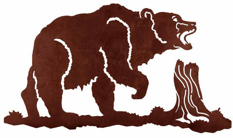 "Bear Design 30"" Metal Wall Art"