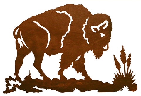 "Buffalo 30"" Metal Wall Art"