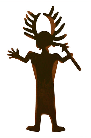 "Antler Man 30"" Metal Wall Art"