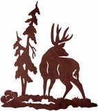 "Buck Deer Design 30"" Metal Wall Art"