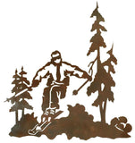 "Skier in the Pines 30"" Rustic Metal Decor"