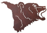 "Bear Head 30"" Metal Wall Art"