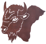 Buffalo Head Metal Wall Art