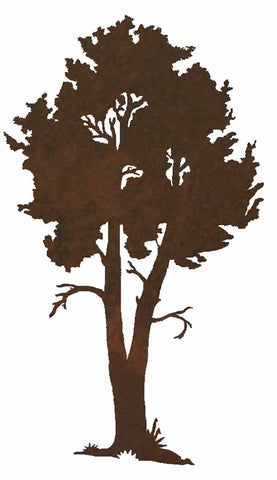 "Aspen Tree 30"" Rustic Metal Wall Art"