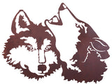 "Wolf Design 30"" Metal Wall Art"