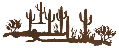 "Desert Scene 42"" Rustic Metal Wall Decor"