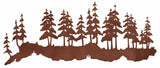 "Pine Forest 42"" Rustic Metal Wall Decor"