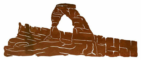 "Delicate Arch 42"" Metal Wall Art"