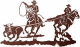"Team Roper 42"" Rustic Western Metal Decor"