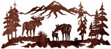 "Moose Family 57"" Metal Wall Art"