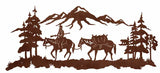 "Mountain Man 57"" Rustic Metal Decor"