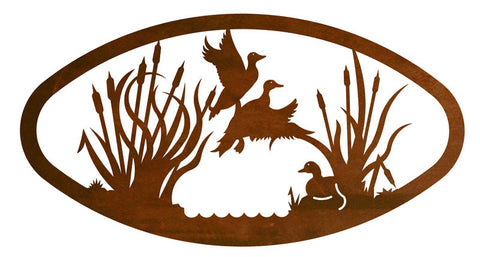 Duck Design Horizontal Oval Metal Wall Art – Inspired by the Outdoors