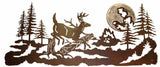 "Buck Deer Design Burnished 57"" Metal Wall Art"