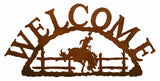 Bucking Bronco Welcome Sign