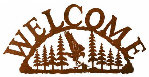 Eagle in the Pines Welcome Sign