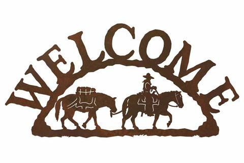 Pack Horse Welcome Sign