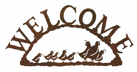 Quail Welcome Sign
