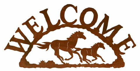 Wild Horses Welcome Sign