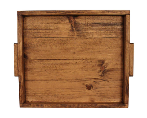Light Stained Wood Serving Tray