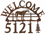 Bay Horse Address Welcome Sign
