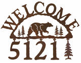 Bear Address Welcome Sign
