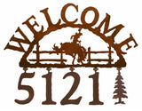 Bronc Address Welcome Sign