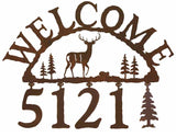 Buck Deer Address Welcome Sign