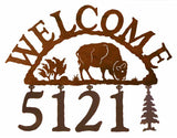 Buffalo Address Welcome Sign