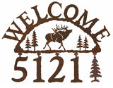 Bull Elk Address Welcome Sign