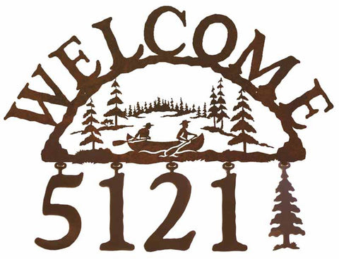 Canoe Address Welcome Sign