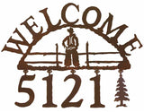 Cowboy Address Welcome Sign