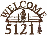 Cowgirl Address Welcome Sign