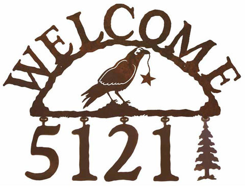 Crow Address Welcome Sign
