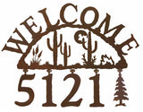 Desert Moon Address Welcome Sign